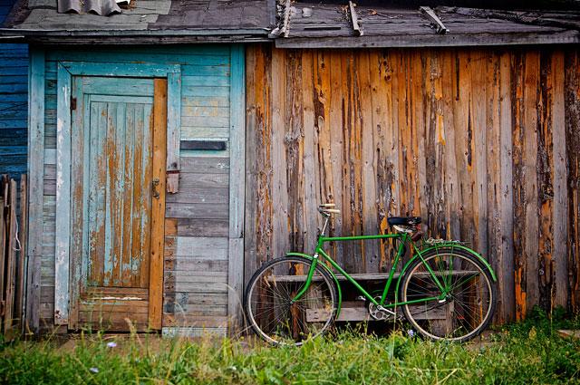 家の前に自転車